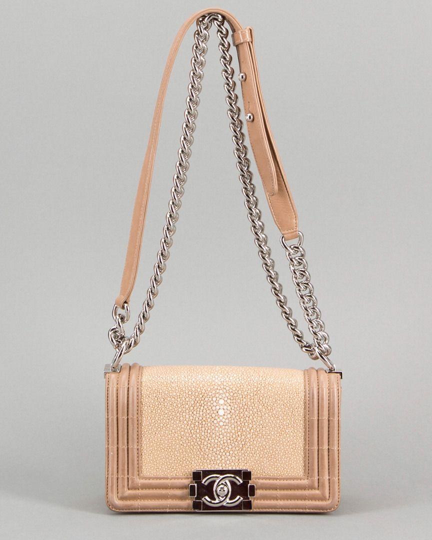 bf85fa010663b8 Chanel Beige Stingray Small Boy Crossbody Flap Bag Bags #CrossbodyBags