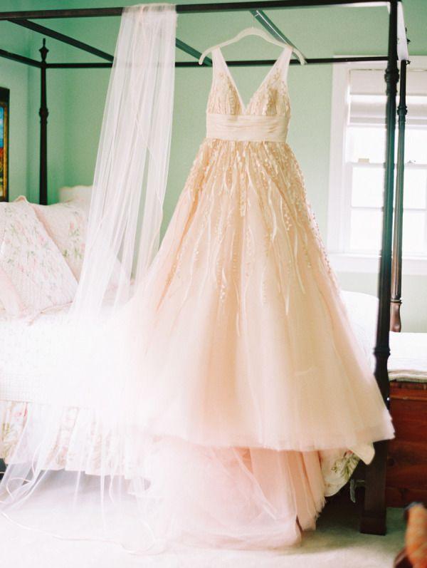 The Prettiest Blush Pink Wedding Dresses - Style Me Pretty