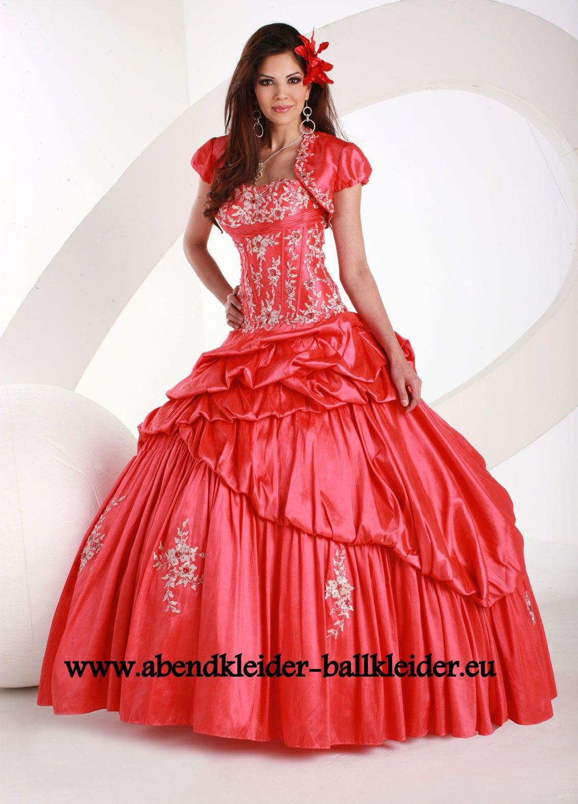 hübsches abend - ballkleid online in rot | beautiful dresses