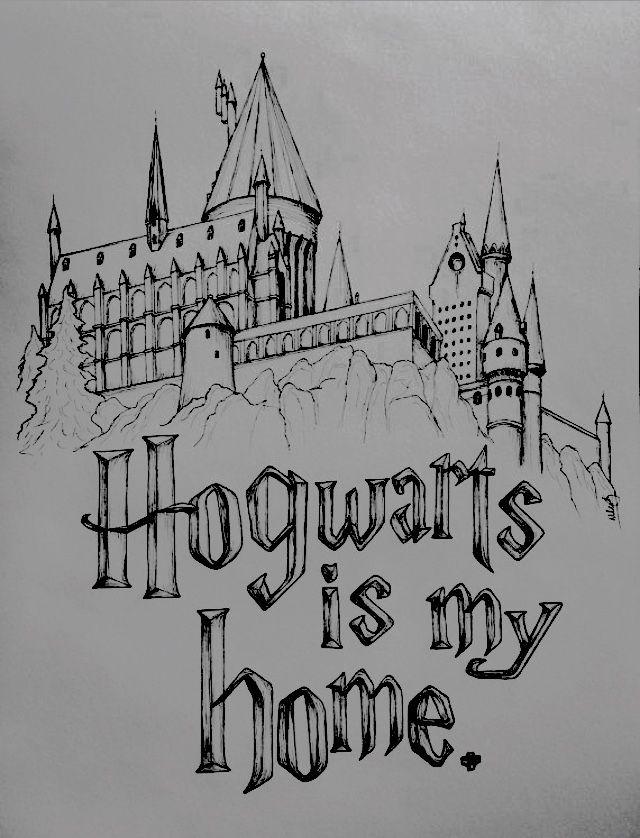 How To Draw Hogwarts Castle : hogwarts, castle, Saiverova, Pencil, Drawings, Harry, Potter, Sketch,, Drawings,, Hogwarts, Castle