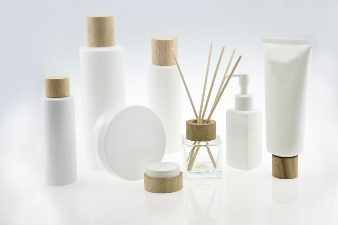 Wooden Cosmetic Packaging Set Hdpe 250ml Bottle With A