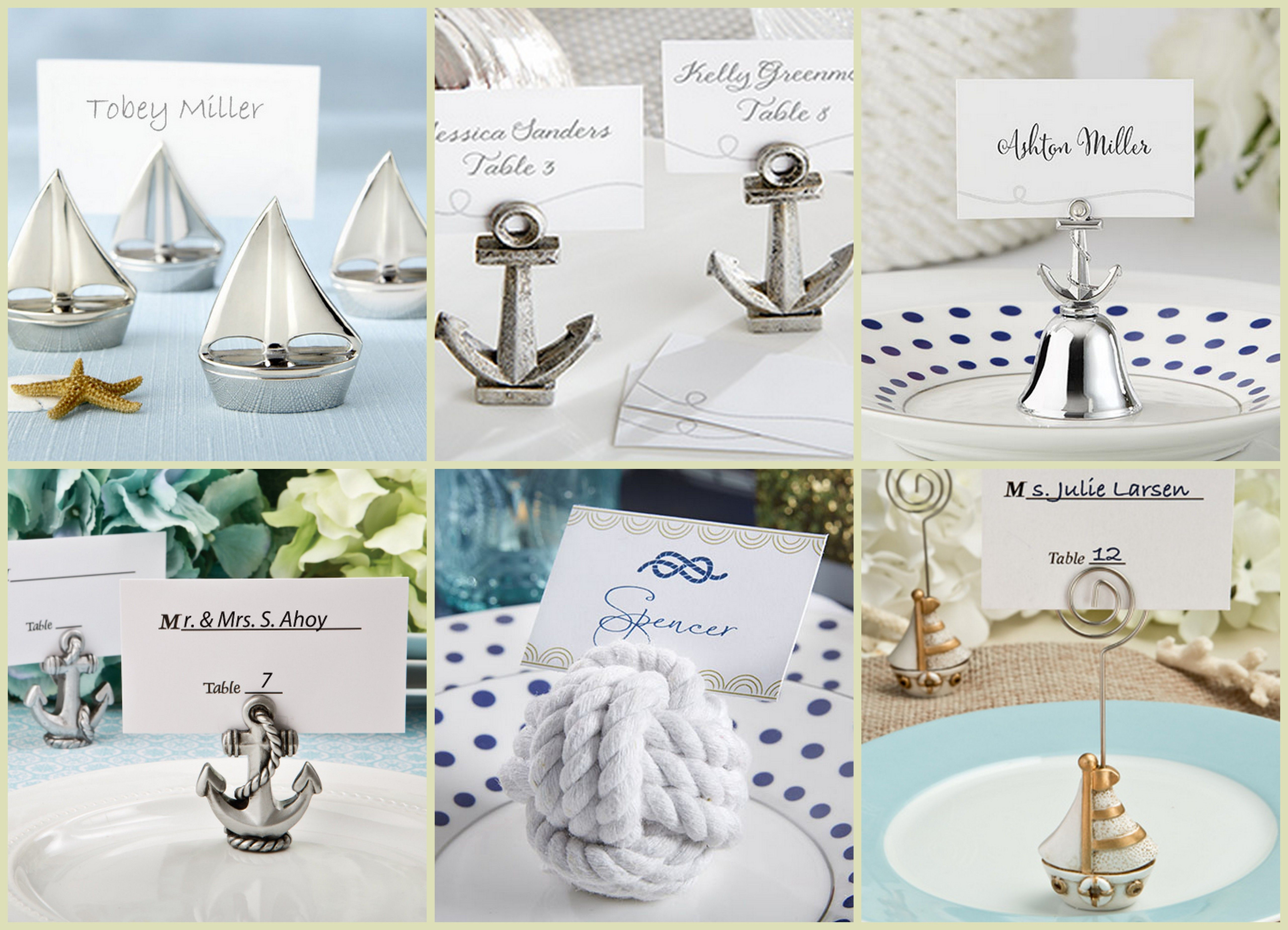 Nautical Place Card Holder   Nautical Wedding Favors   Pinterest ...