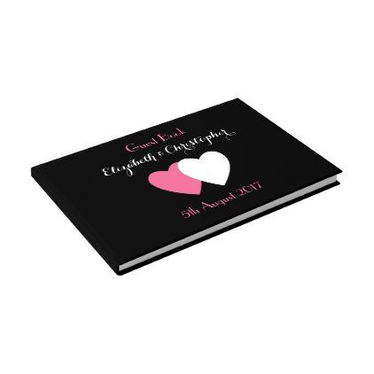 #bride - #Wedding Guest Book / Black and hot pink