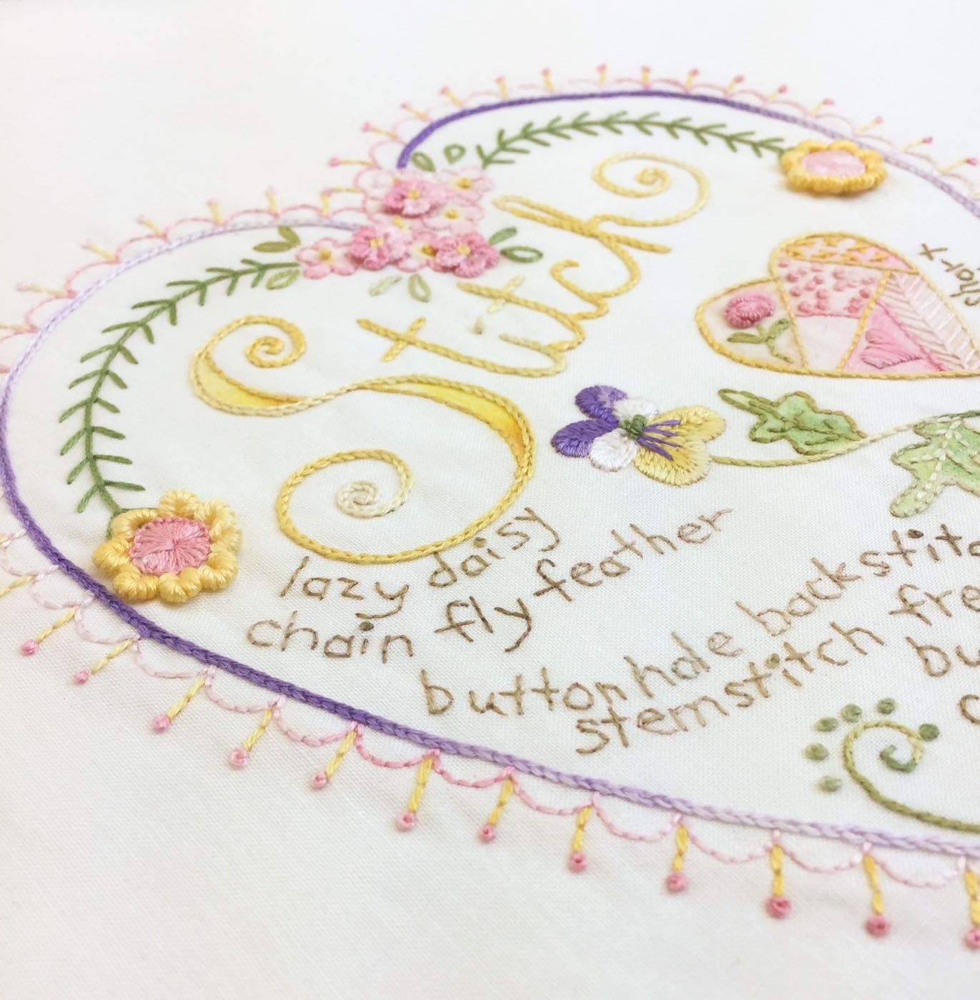Stitch Heart Sampler crabapplehill | Embroidery | Pinterest