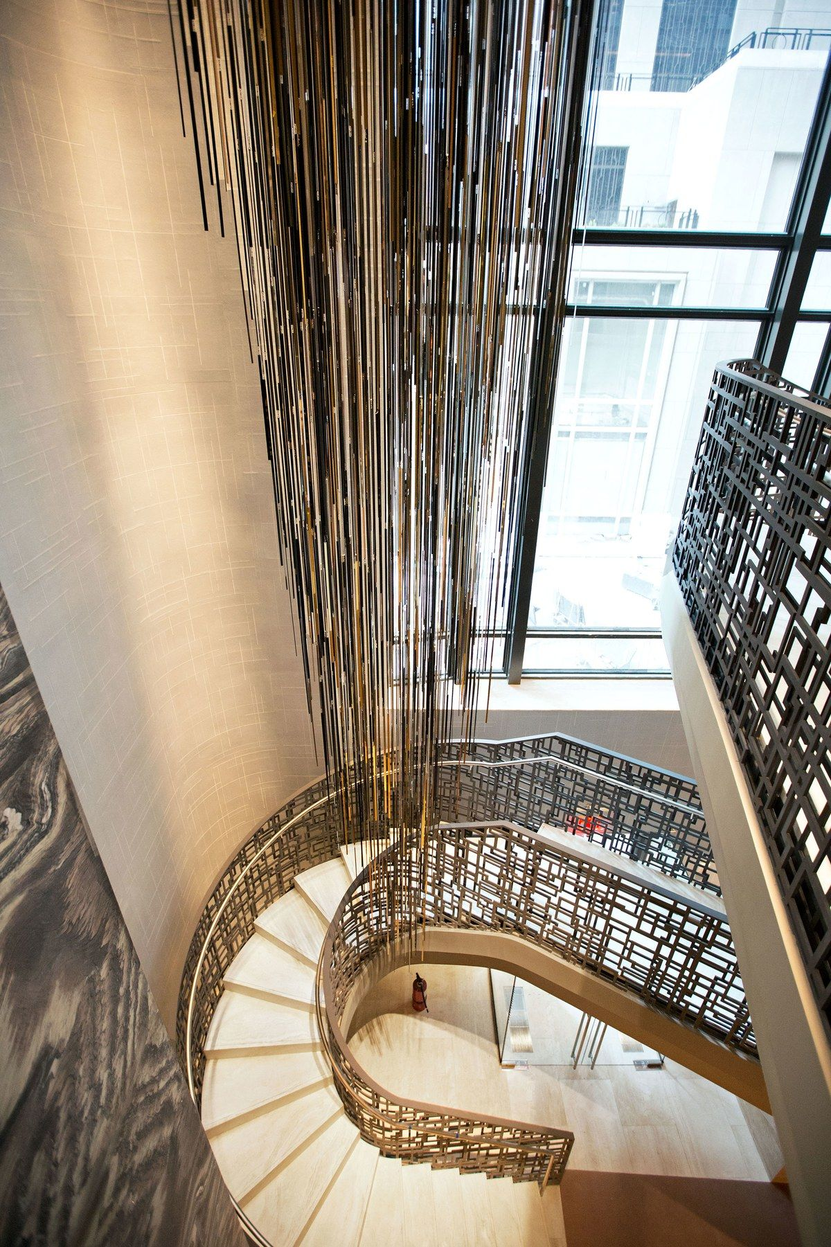 Take An Exclusive First Look At The New Four Seasons New York Downtown Stairs Design Yabu Entry Stairs