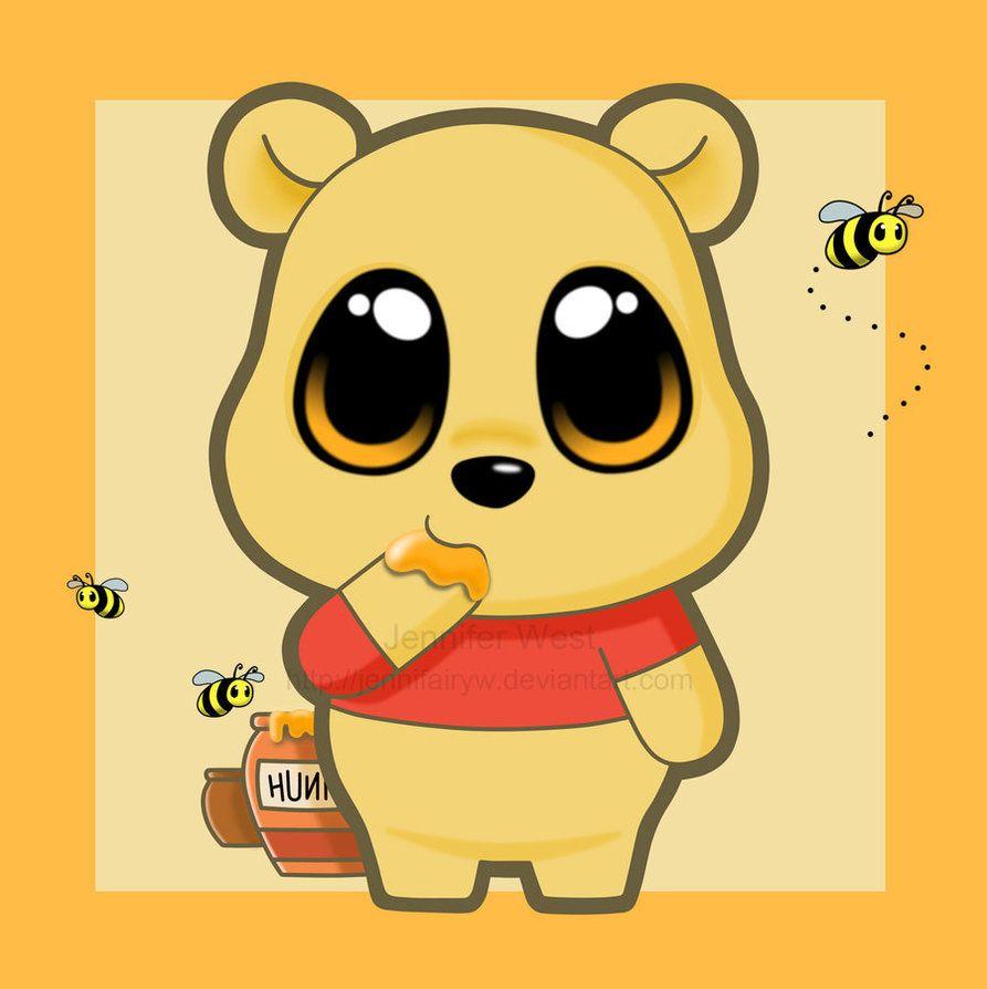 chibi pooh by jennifairyw on deviantart pinteres