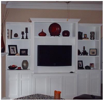 Custom Built In TV Stand