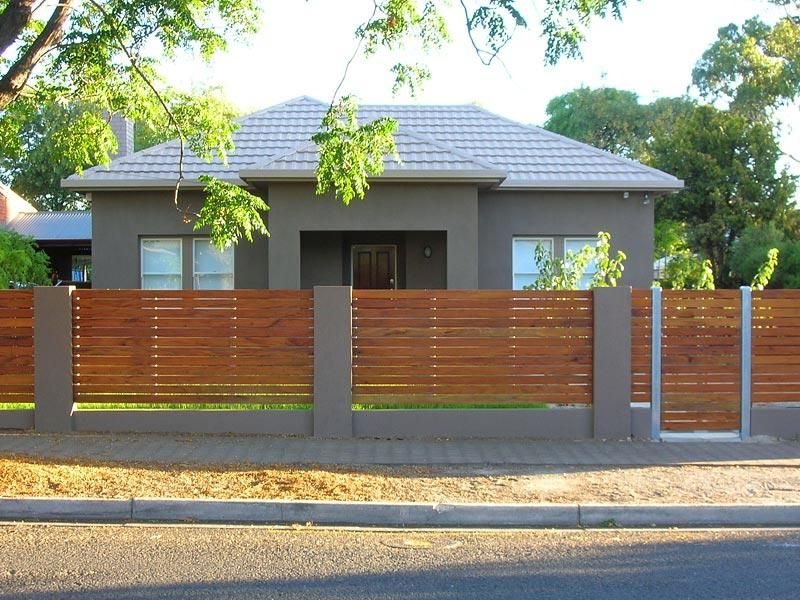 Fences Design Ideas Spaced Interior Design Ideas Photos And Pictures For Australian Homes Modern Fence Design Modern Front Yard Front Yard Fence