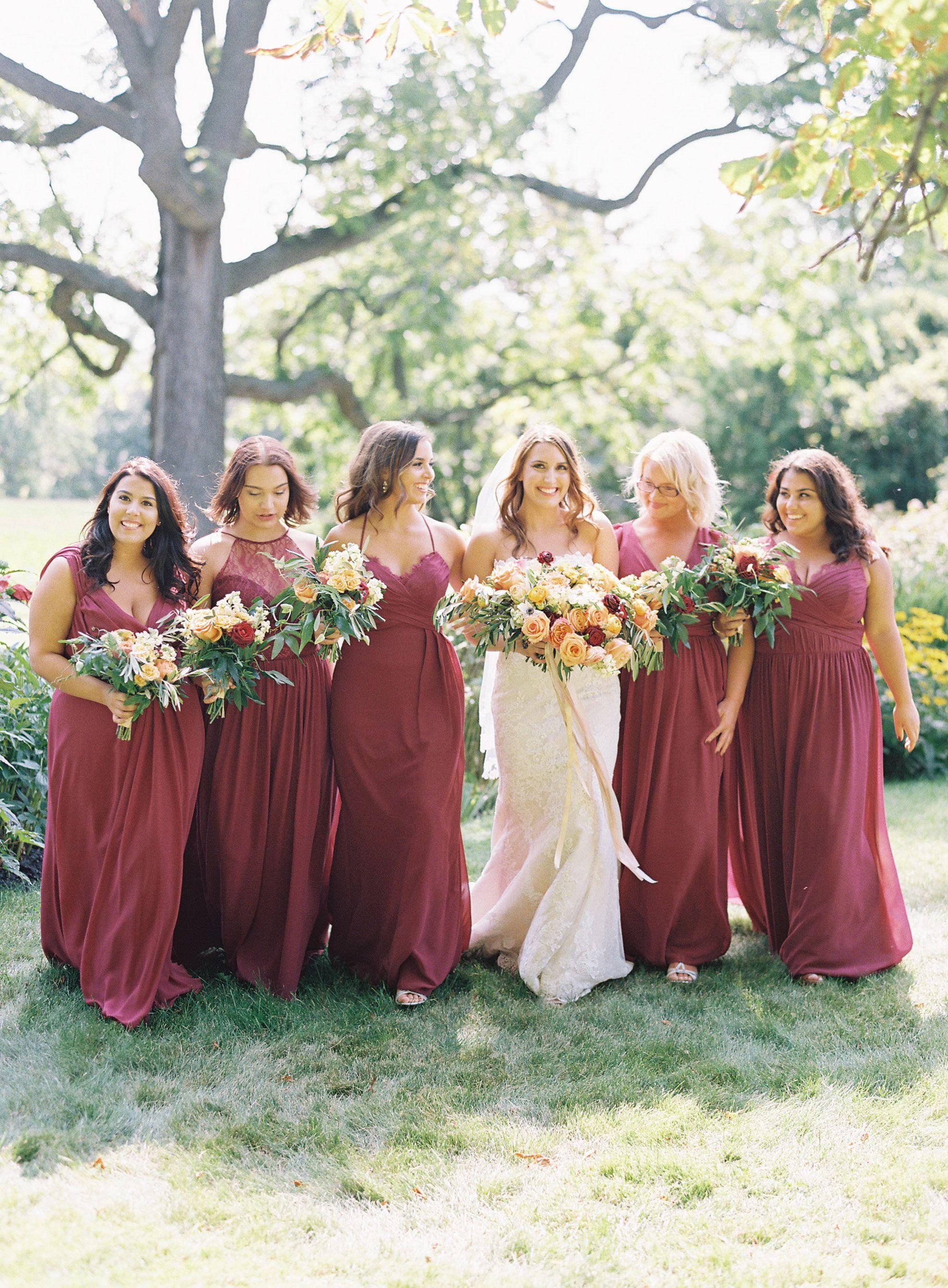 Vineyard Wedding Inspired By The Couple S Honeymoon Destination Fall Bridesmaid Dresses Autumn Wedding Dress Bridesmaid Bridesmaid Dresses Plus Size [ 2684 x 1976 Pixel ]