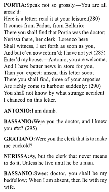 Merchant Of Venice Act 5 Scene 1 Translation Meaning Annotation 15 Http Www Aplustopper Com A Meant To Be English Reading Paraphrase Pdf Download