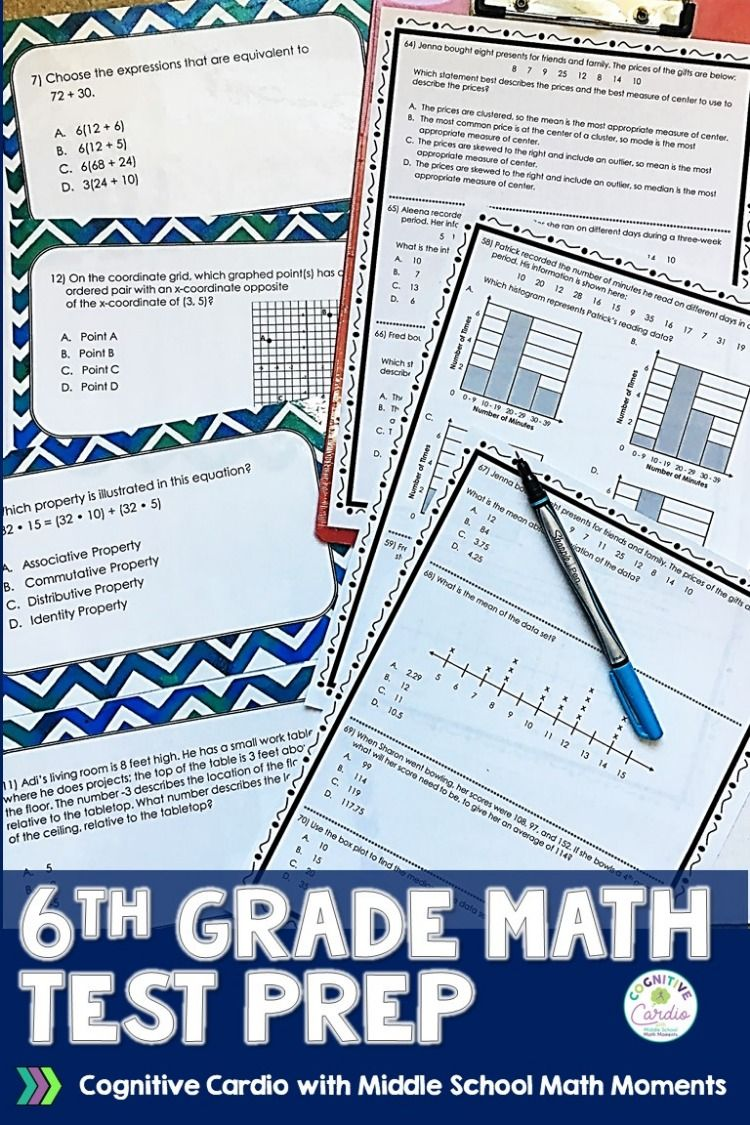 6th Grade Math Test Prep, End-of-Year Review | Madame