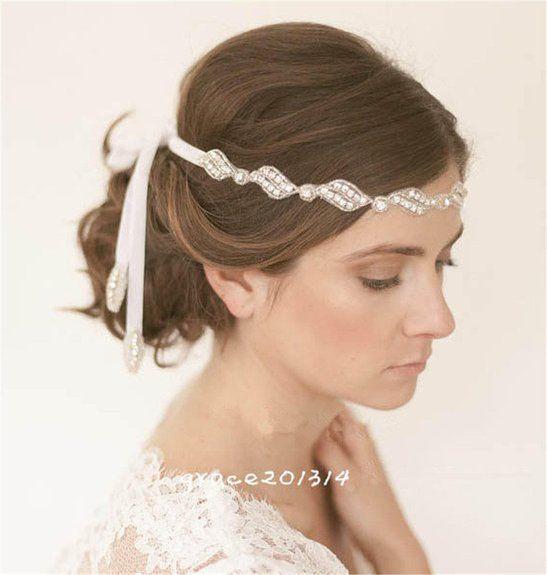 Luxus Strass Haarband Stirnband Kopfschmuck Kristall Haarreif