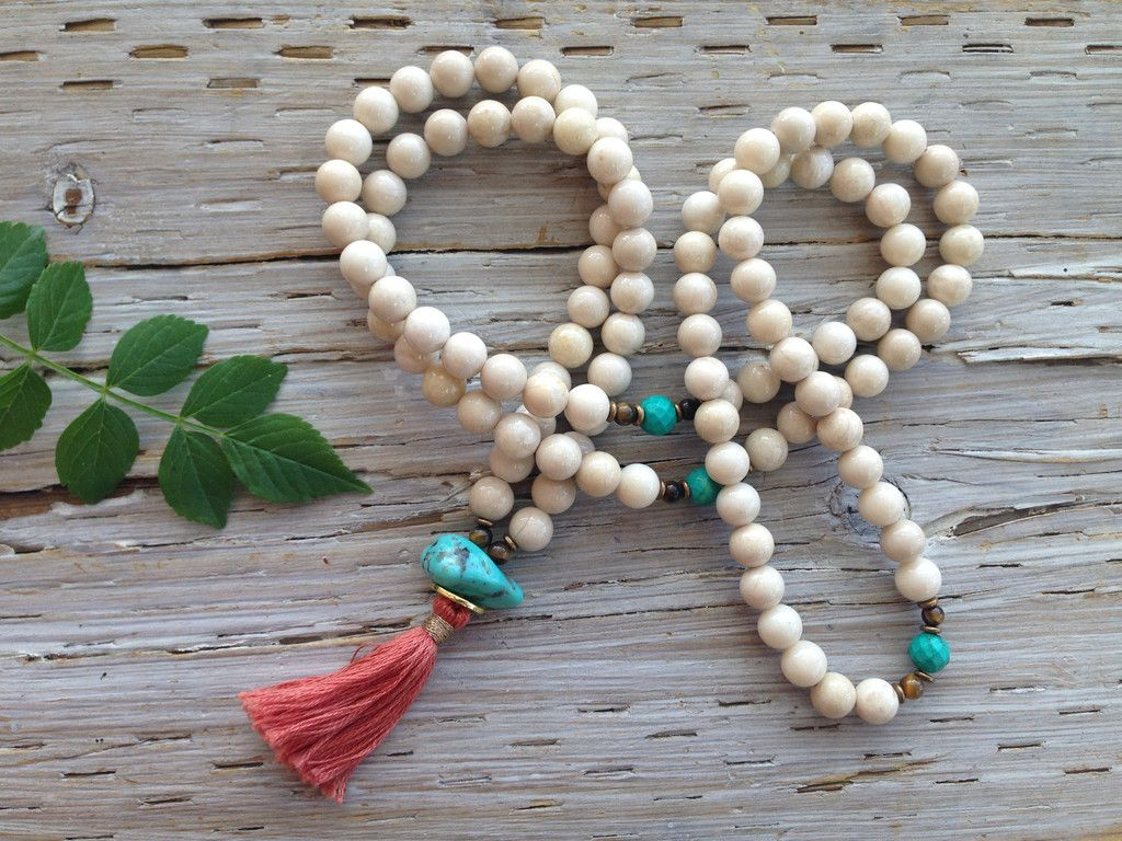 Love Silver and Sage! The most beautiful Mala's I've ever seen. I wear my turquoise one, daily.