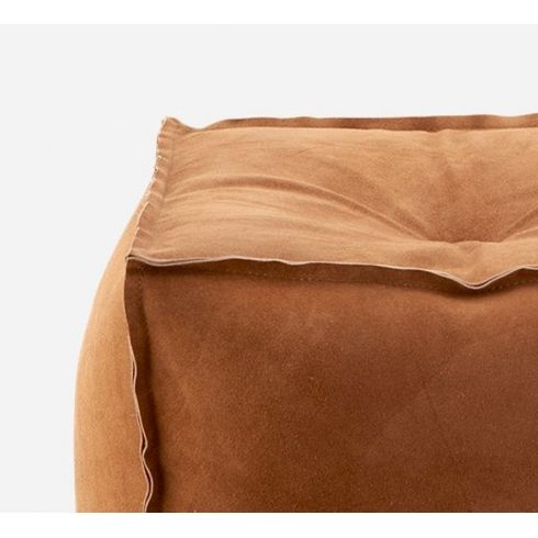 Camel Coloured 100% Suede Cube Pouffe | House Doctor #housedoctor ...