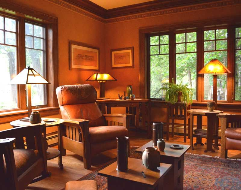 A Reader S House Restored Craftsman Living Rooms