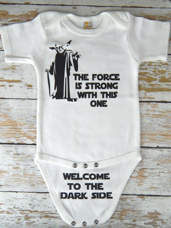5ef46978a Star Wars Onesie / Funny Yoda Baby Onesie / by CutieButtsBoutique ...