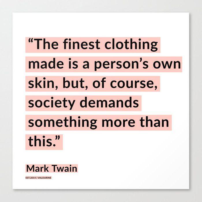61 | Mark Twain Quotes 200908 Motivational Inspirational Inspiring Motivating Canvas Print by Wordz