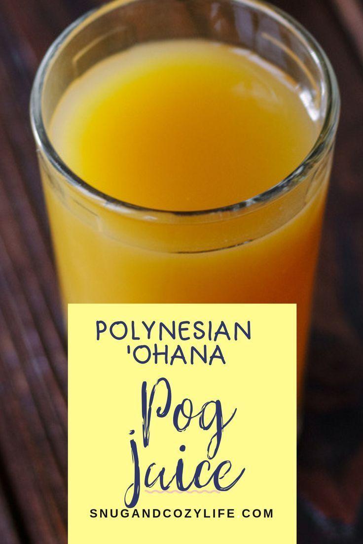 Disney Pog Juice is served at the Disney Polynesian's Resorts 'Ohana Breakfast. ... - Mocktail Drink Recipes Disney Pog Juice is served at the Disney Polynesian's Resorts 'Ohana Breakfast. ...   - Mocktail Drink Recipes -