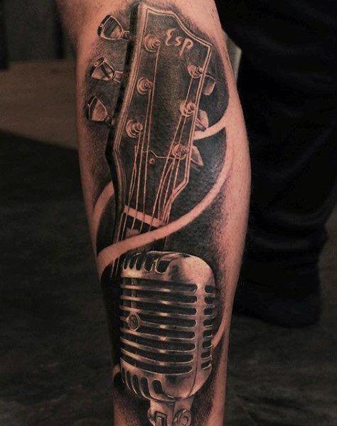 100 Music Tattoos For Men - Designs With Harmony - Man Style | Tattoo -  tattoos music manner harmony designs  - #beautifultattoos #countrytattooformen #Designs #Gargoyletattoo #Harmony #liptattoo #man #meaningfultattoos #men #music #nametattooideas #style #tattoo #tattooformenonleg #Tattoos