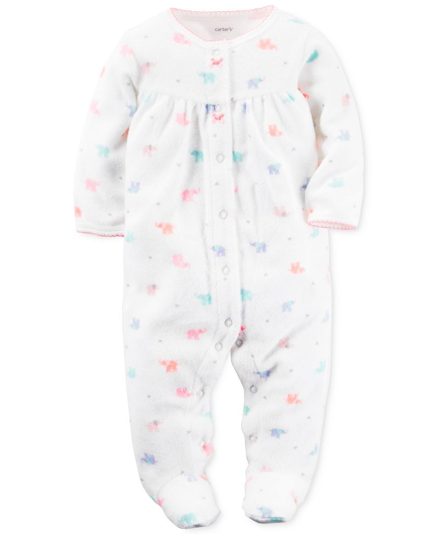 Baby - Mint 3 Months Carters Baby Girls Dot Terry Footie
