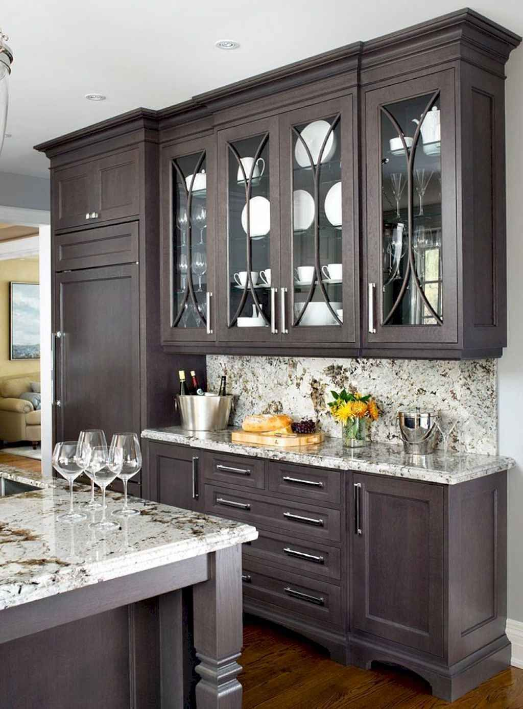 Gorgeous Kitchen Cabinets Design and Decor Ideas (29 #darkkitchencabinets