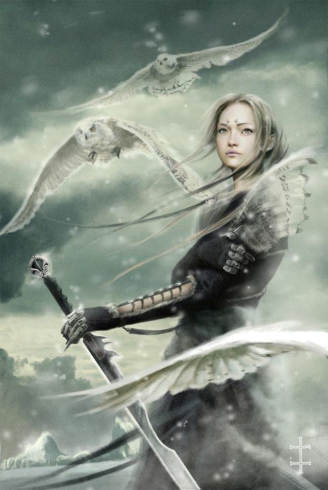Female warrior scout eve ventrue science fiction - Fantasy female warrior artwork ...