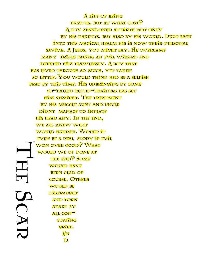 Concrete Poem, Lightening HP by froggi   Harry Potter   Pinterest ...
