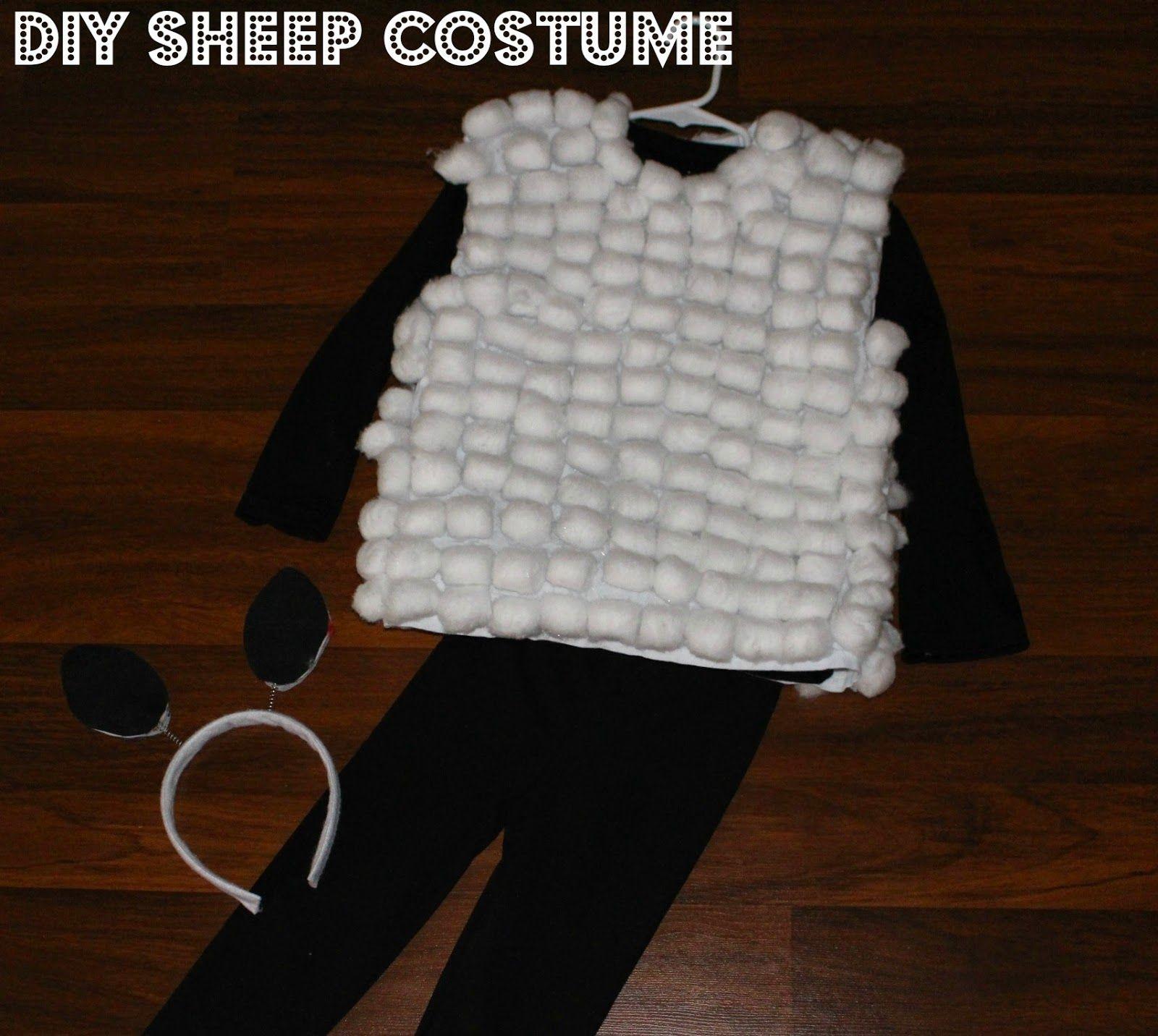 Diy sheep costume httpiheart motherhoodblog201412diy christmas themes diy sheep costume solutioingenieria Choice Image