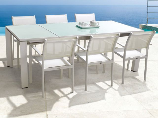 Mondecasa Rhodes Outdoor Dining Armchairs Table Dining Table Outdoor Dining Table Extendable Dining Table