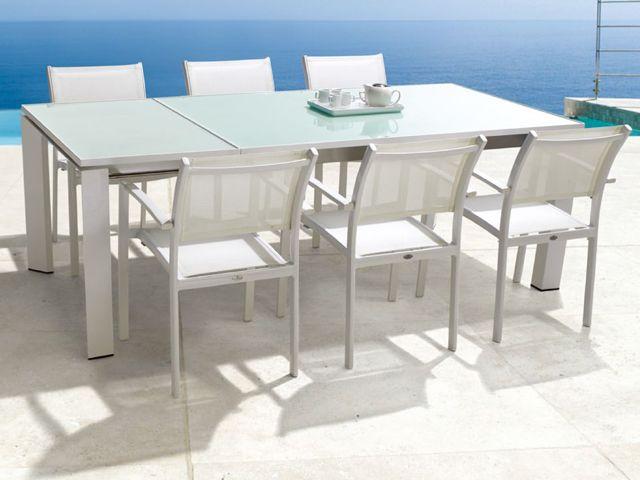 Mondecasa Rhodes Outdoor Table   Glass Tabletop   ExtendableMondecasa Rhodes Outdoor Table   Glass Tabletop   Extendable  . Extendable Outdoor Dining Sets. Home Design Ideas