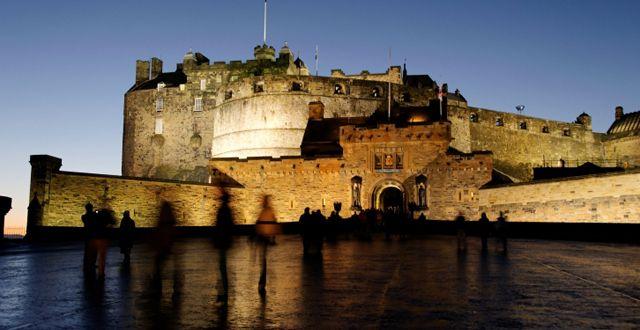 Edinburgh castle by night.
