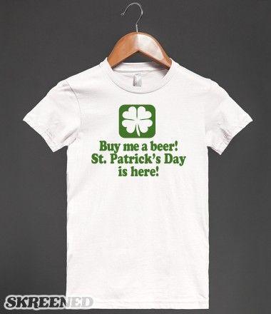 CRAIC HEAD ST PATRICKS DAY GREEN MENS WOMENS IRISH IRELAND T SHIRT
