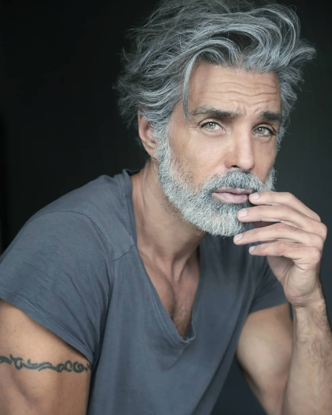 Happy Weekend Everyone Pic By Talented And Amazing Marissa Ph1 Nevsmodels Dmanagement Urbn Grey Hair Men Older Mens Hairstyles Hair And Beard Styles