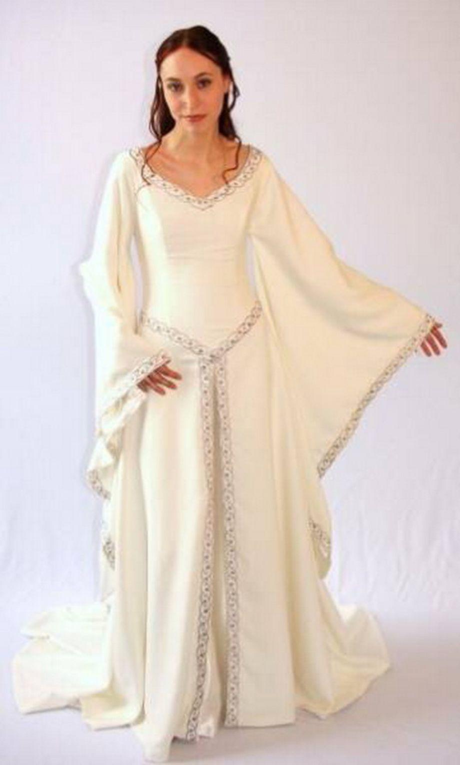 Modern Celtic Wedding Dress