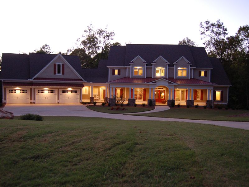 Luxury House Plan Front Photo 02 - 076D-0204 House Plans and More