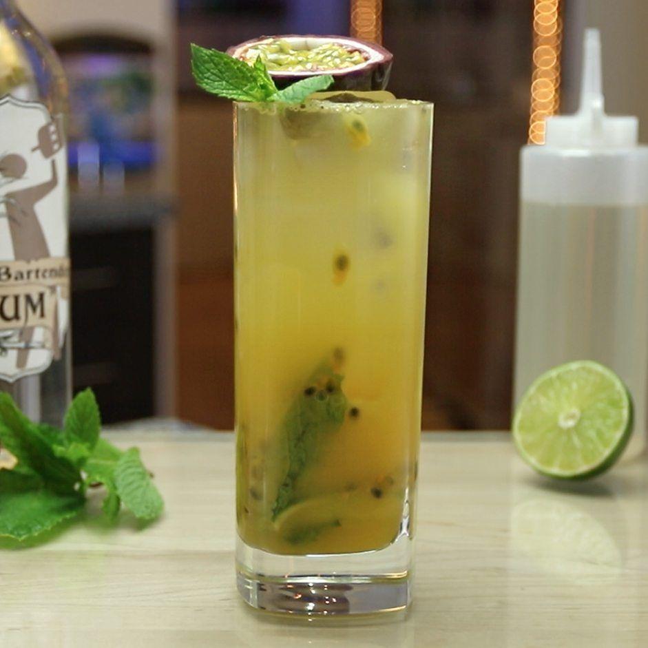 Passion Fruit Mojito Tipsy Bartender Recipe Passion Fruit Mojito Passion Fruit Juice Mojito