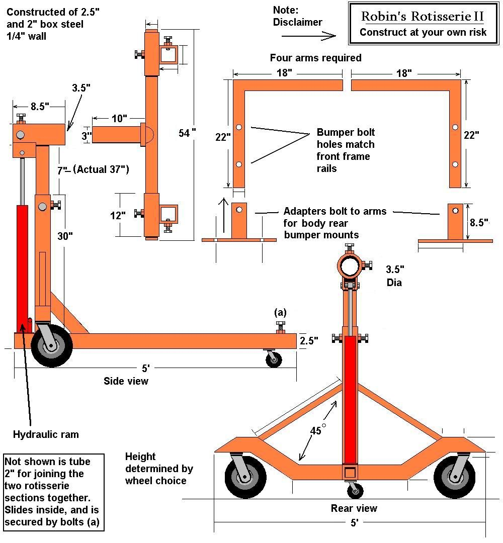 Auto Rotisserie Build Or Buy Motor Castom Pinterest Cars Metals And Shop Ideas