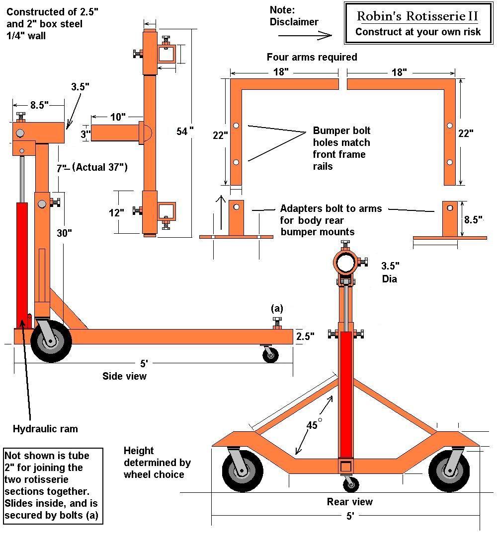 Auto Rotisserie (build or buy)? Repair, Garage equipment