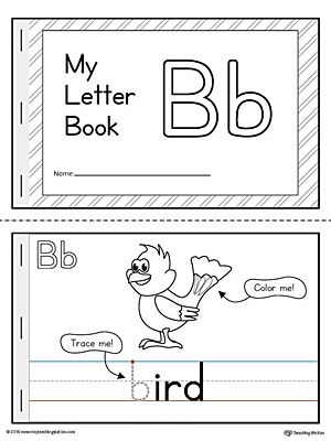 Letter B Mini Book Printable | Pre-K | Preschool letter b ...