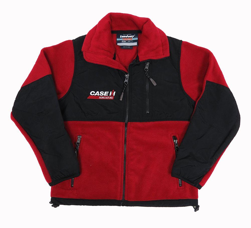 ih logo fleece zip up jacket w zippered pockets