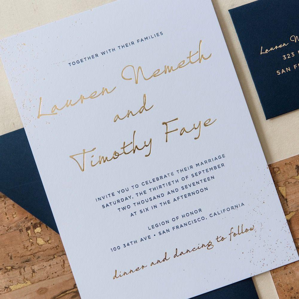 Wedding Invitations And Stationery Little Black Dress Paperie Wedding Invitations Invitations Foil Wedding Invitations