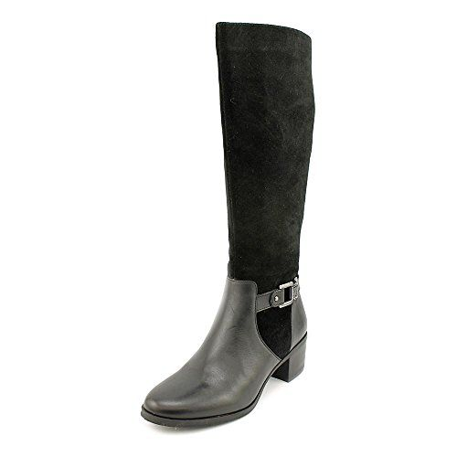 Womens Boots Anne Klein Joetta Wide Calf Black Leather