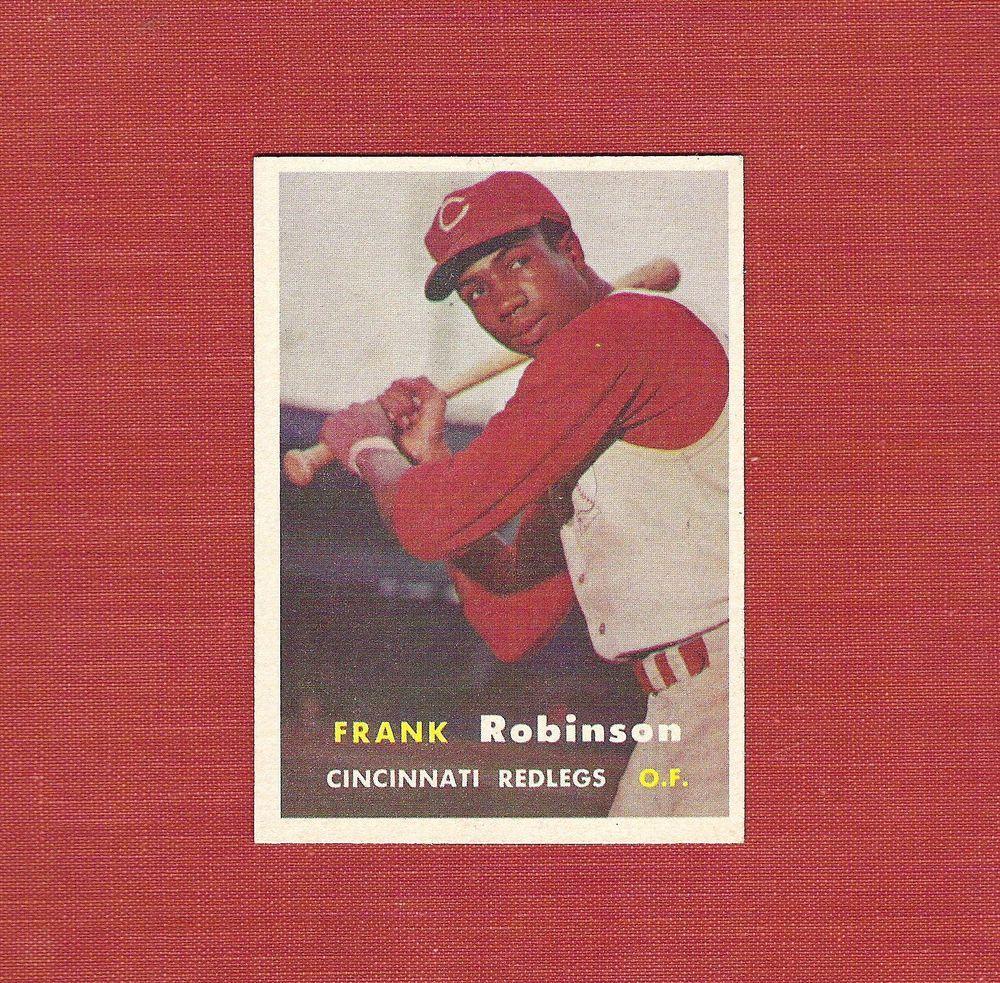 ∎ 1957 TOPPS baseball card FRANK ROBINSON RC #35 **NEAR-MINT+** #CincinnatiReds