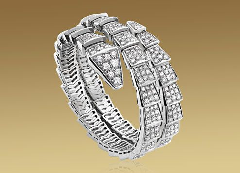 bulgari serpenti bracelet in 18kt white gold with pav diamonds br855118 yours for a mere