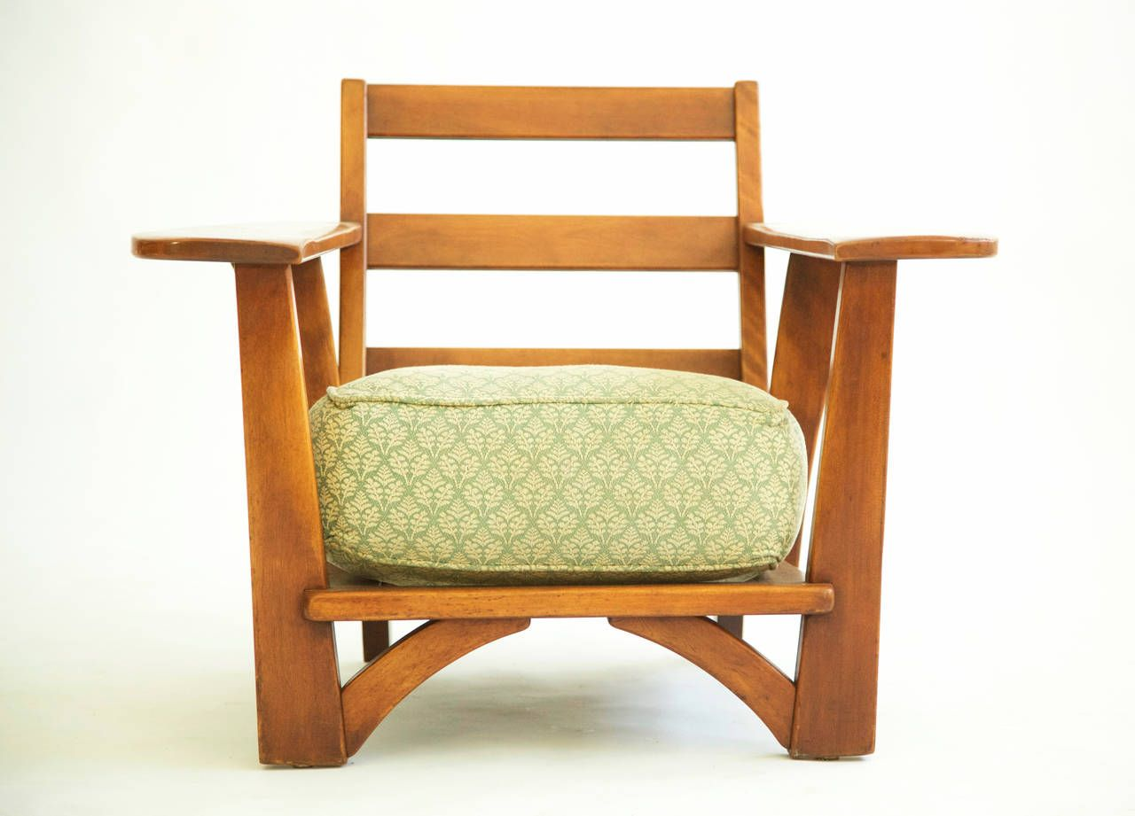 Antique lounge chairs - Cushman Paddle Arm Lounge Chair