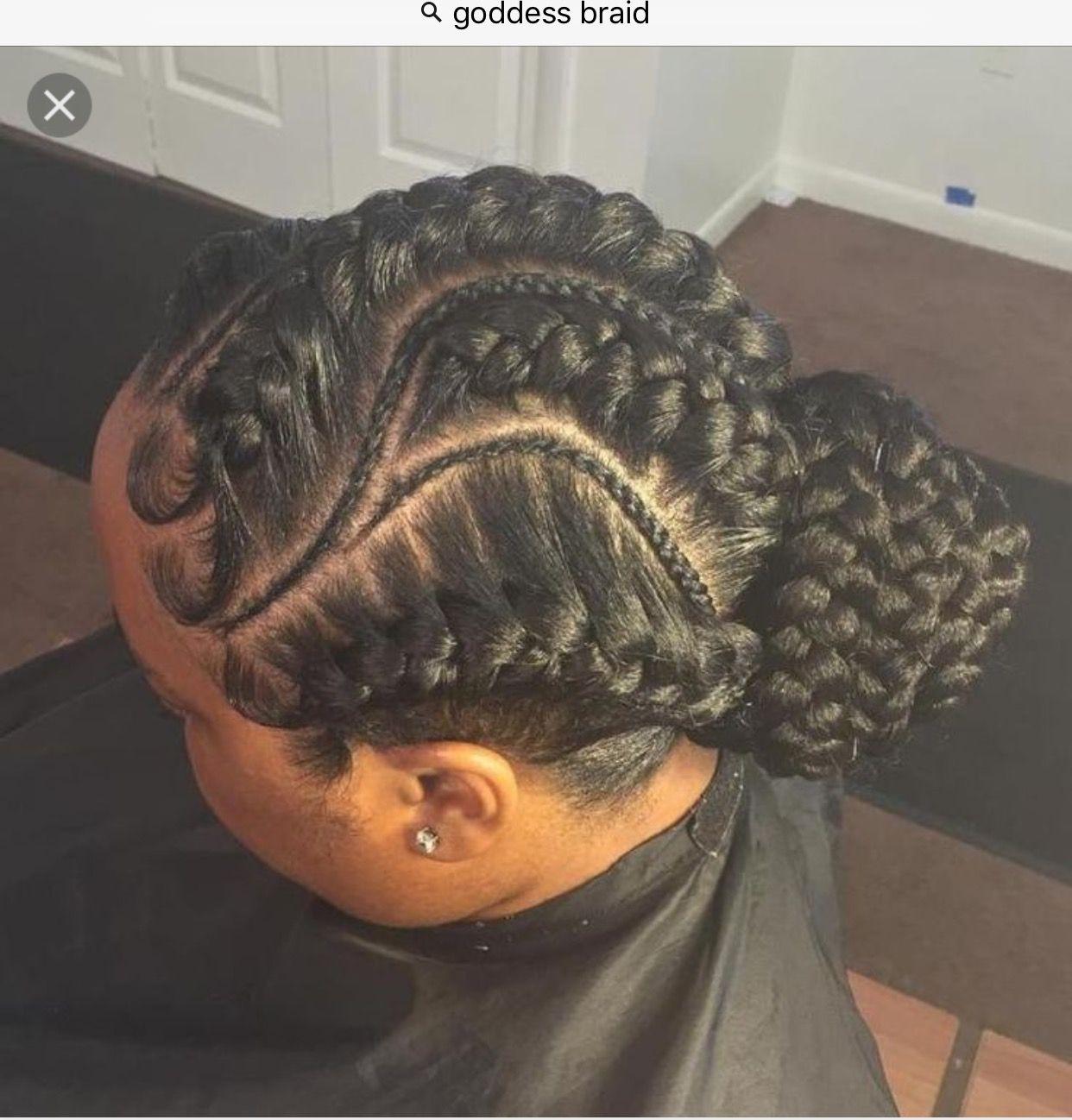 Goddess braids natural hair style braids pinterest goddess