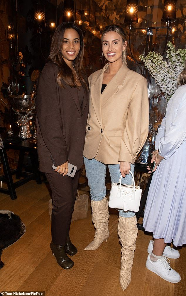 Rochelle Humes and Ferne McCann look stylish as ever at