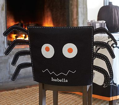 Excellent Spider Chair Cover Halloween Kids Halloween Crafts Caraccident5 Cool Chair Designs And Ideas Caraccident5Info