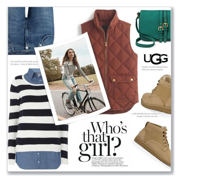 """""""Play With Prints In UGG: Contest Entry"""" by limara1 ❤ liked on Polyvore featuring 7 For All Mankind, UGG Australia, J.Crew, Dorothy Perkins, Merona and thisisugg"""