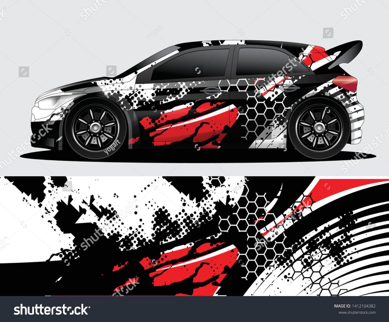 Rally Car Decal Graphic Wrap Vector Abstract Background Car Sticker Design Car Wrap Design Rally Car Design
